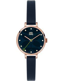 Ok2036 Women's Ivy Leather Strap Watch