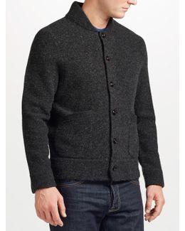 Boiled Wool Cardigan