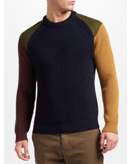 Made In Manchester Colour Block Jumper