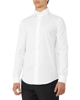 Oxide Slim Fit Stretch Cotton Shirt