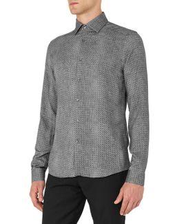 Temple Tonal Patterned Slim Fit Shirt