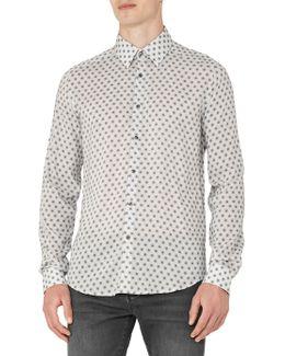 Persian Geometric Print Slim Fit Shirt