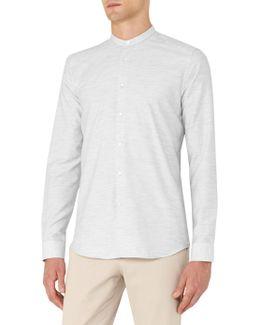 Hanns Cotton Grandad Collar Shirt