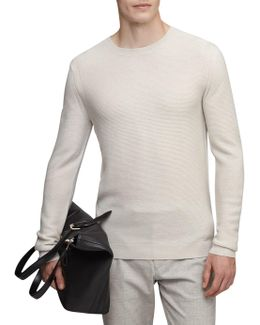 Prince Ribbed Crew Neck Jumper