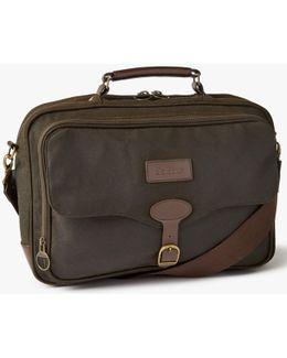 Waxed Cotton Briefcase
