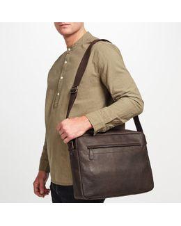 Toronto Leather Messenger Bag