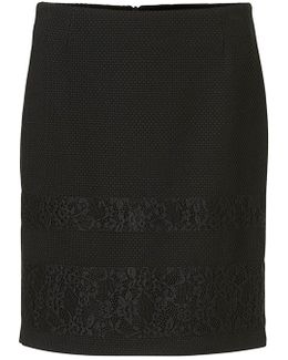 Textured Lace Skirt
