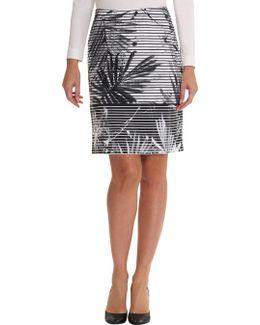 Fern Leaf Print Skirt
