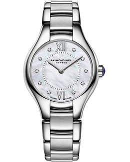 5124-st00985 Women's Noemia Mother Of Pearl Diamond Dial Watch