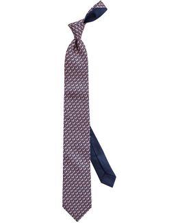 Giraffe Print Woven Silk Tie