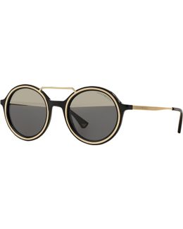Ea4062 Round Sunglasses