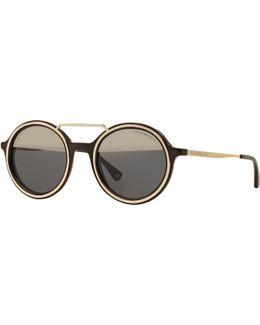 Ea4062 Round Sunglasses