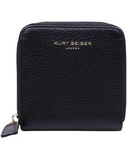 Leather Mini Zip Wallet