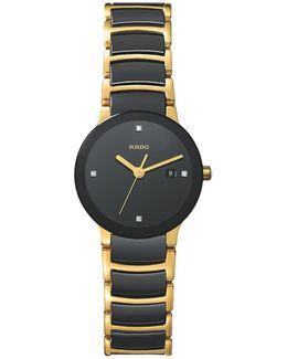 R30930712 Women's Centrix Jubile Diamond Bi-material Bracelet Strap Watch