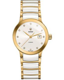 R30080752 Women's Centrix Diamond Date Bi-material Bracelet Strap Watch