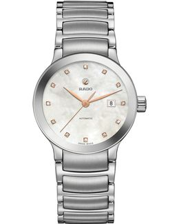 R30027923 Women's Centrix Automatic Date Diamonds Bracelet Strap Watch