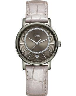 R14064715 Women's Diamaster Diamond Date Leather Strap Watch