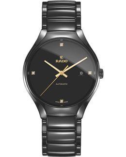 R27056712 Unisex True Diamond Ceramic Bracelet Strap Watch