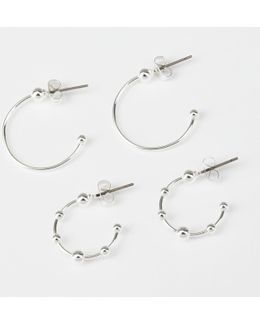 Naia Plated Creole Earring Set