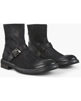 Ellis Back Zip Moto Boot