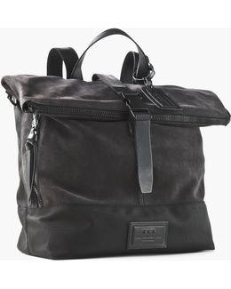 Suede & Ballistic Nylon Backpack