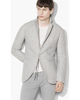 Crinkled Single-button Jacket