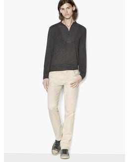 Banded Collar Henley