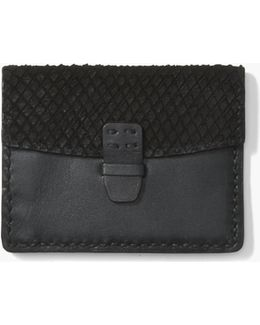 Back Snake Leather Card & Coin Case
