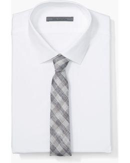 Linen Skinny Check Tie