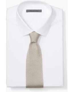 Silk Striped Knit Tie