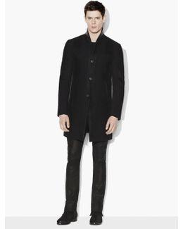 Tonal Striped Coat