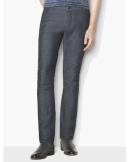 Side Zip Chambray Pant
