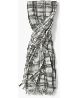 Abstract Plaid Scarf