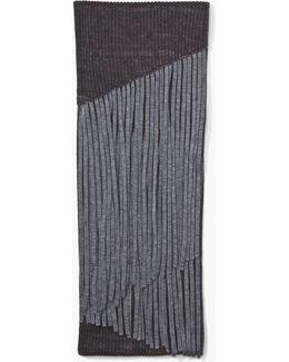 Fringed Merino Wool Scarf