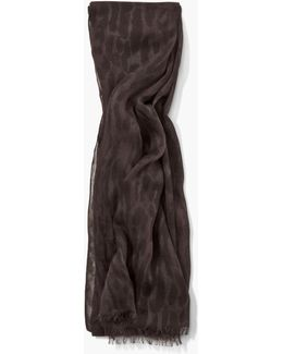 Ccrinkled Leopard Printed Light Weight Scarf