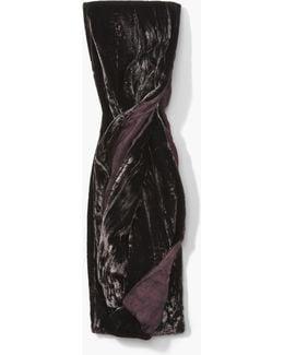 Washed Velvet / Silk Printed Scarf