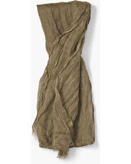 Linen Crinkled Scarf