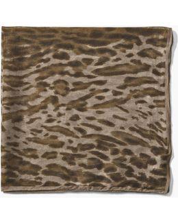 Crinkled Leopard Printed Light Weight Bandana