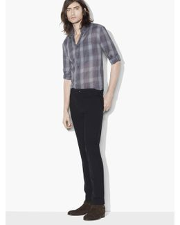 Roll Sleeve Plaid Shirt