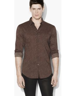 Slim Fit Sport Shirt With Adjustable Sleeves