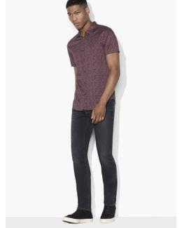 Short Sleeve Abstract Printed Shirt