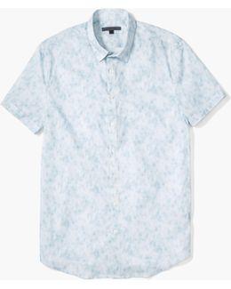 Tonal Plaid Sport Shirt
