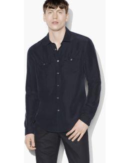 Silk Military Shirt