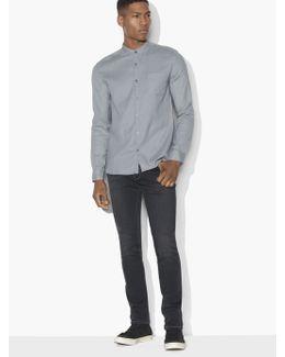 Bohemian Banded Collar Shirt