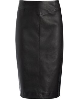 Leather Stretch Clara Skirt