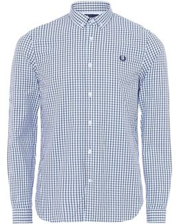 Three-colour Basketweave Gingham Shirt