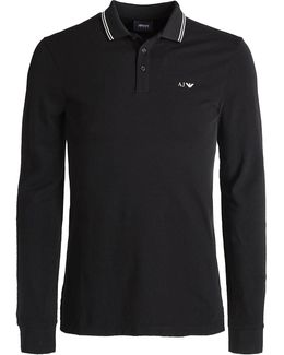 Pique Long Sleeve Polo Shirt