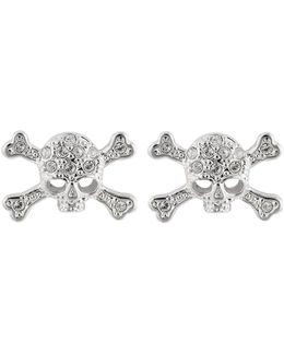 Diamante Skull Stud Earrings