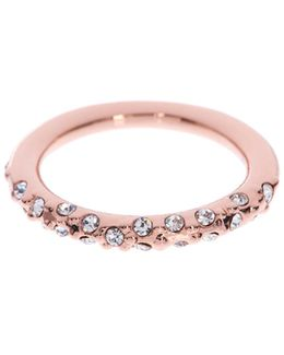 Crystal Sprinkle Ring - Rose Gold Colour