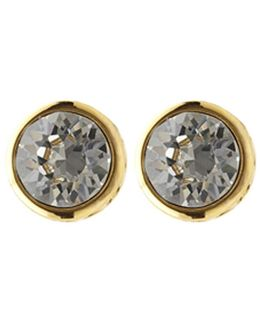 Round Stud Earrings - Gold Colour